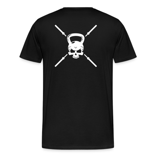 Kettle bell and bars, Crossfit - Men's Premium T-Shirt