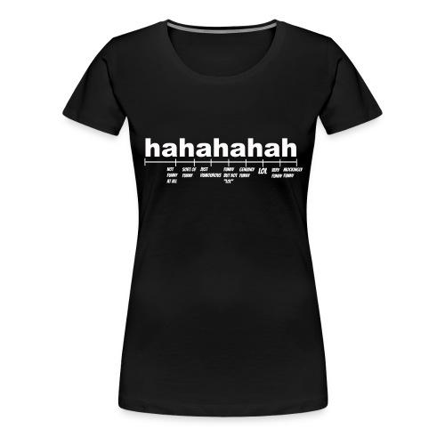 Black Hahahahah Explained  T-shirt (Women) - Women's Premium T-Shirt
