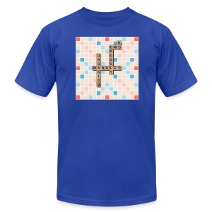 GMO-NO: Grossly Modified Organism (SCRABBLE Board) - Men's T-Shirt by American Apparel