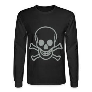 Skull Hanes - Men's Long Sleeve T-Shirt