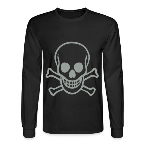 Skull Hanes - Men's Long Sleeve T-Shirt