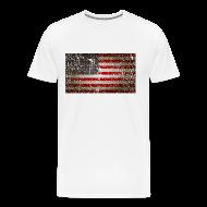 T-Shirts ~ Men's Premium T-Shirt ~ US Flag distressed
