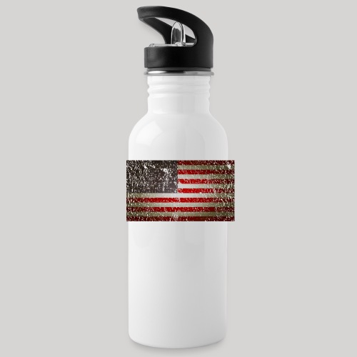US Flag distressed - Water Bottle