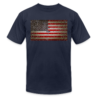 T-Shirts ~ Men's T-Shirt by American Apparel ~ US Flag distressed