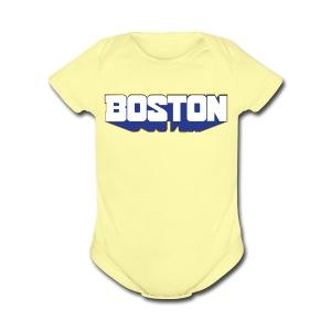 Boston Block - Short Sleeve Baby Bodysuit