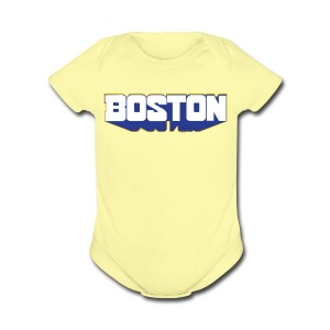 Boston Block - Short Sleeve Baby Bodysuit