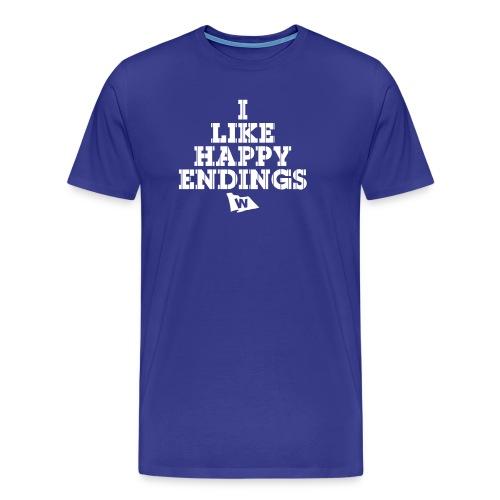 I Like Happy Endings (Chicago Baseball) - Men's Premium T-Shirt