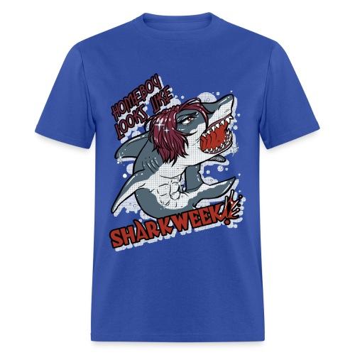 Shark Week Shirt BLUE - Men's T-Shirt