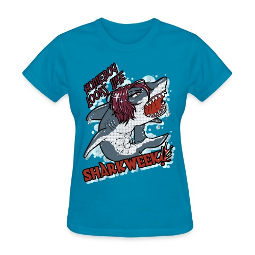 Ladies Shark Week BLUE - Women's T-Shirt
