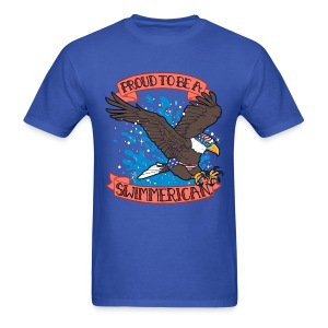 Proud To Be A Swimmerican BLUE - Men's T-Shirt
