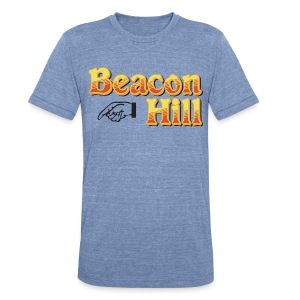 Beacon Hill Boston - Unisex Tri-Blend T-Shirt by American Apparel