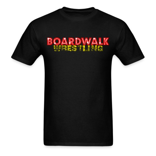 Boardwalk Wrestling Logo 2015 (Black Only - Men's T-Shirt