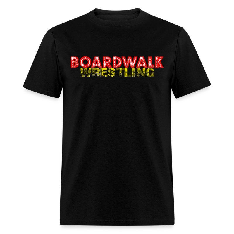 Boardwalk Wrestling Logo 2015 (Black Only - Men's T-Shirt