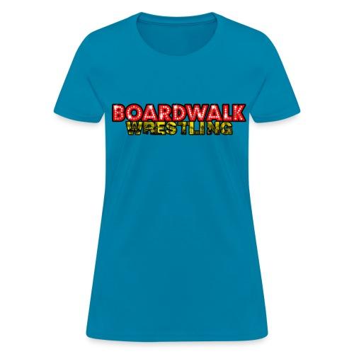 Boardwalk Wrestling Logo 2015 - Women's T-Shirt