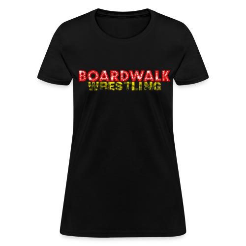 Boardwalk Wrestling Logo 2015 (Black Only) - Women's T-Shirt