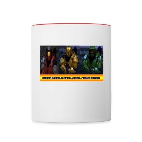 offical mcnn news crew coffee mug! - Contrast Coffee Mug