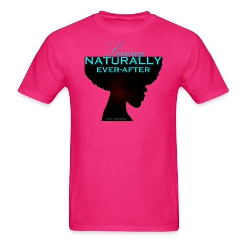 Living Naturally Ever After-Aqua/Black - Men's T-Shirt