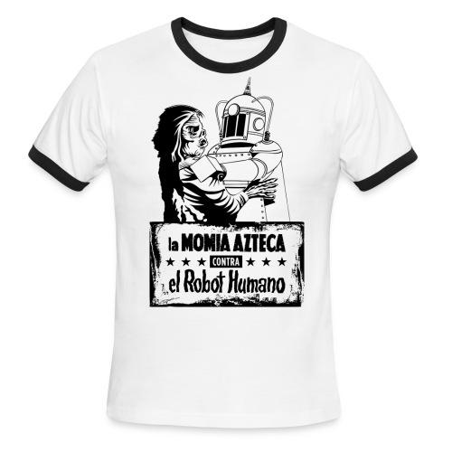 Mummy vs Robot - Men's Ringer T-Shirt