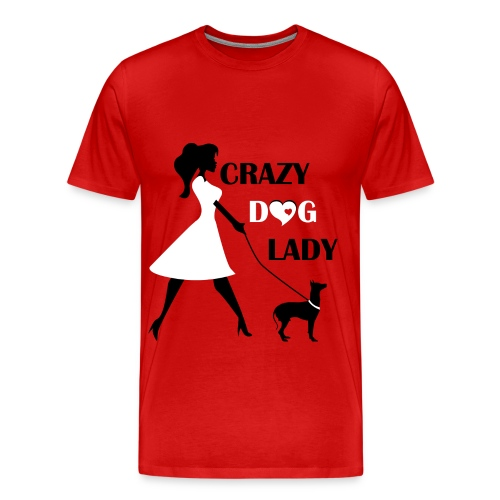 Unique Crazy dog lady T-Shirt - Men's Premium T-Shirt