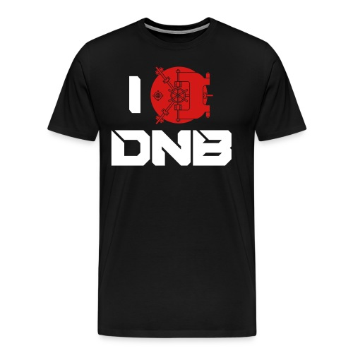 I VAULT DNB - Black Tee - Men's Premium T-Shirt