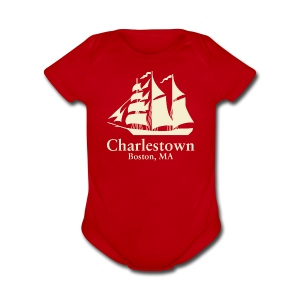 Charlestown Boston - Short Sleeve Baby Bodysuit