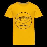 Kids' Shirts ~ Kids' Premium T-Shirt ~ Words to Sweat By Train Dirty Kids' T-Shirt