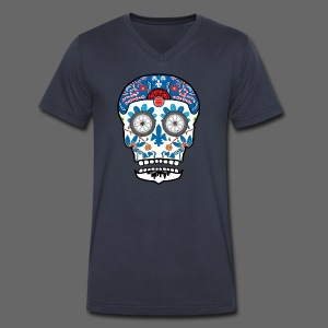 Day of Detroit - Men's V-Neck T-Shirt by Canvas