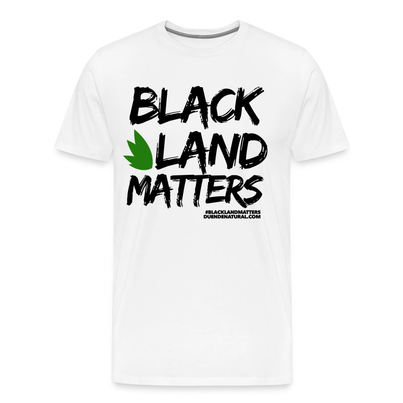 Duende #BlackLandMatters V3 Mens-White - Men's Premium T-Shirt