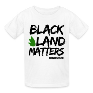 Duende #BlackLandMatters V3 Kid's-White - Kids' T-Shirt