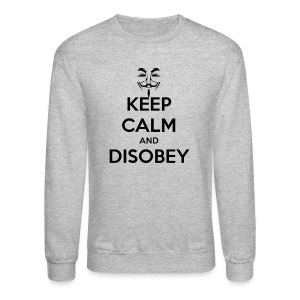 Keep Calm & Disobey Anon Mask - MEN - Crewneck Sweatshirt