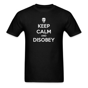 Keep Calm And Disobey AnonMask Black - MEN - Men's T-Shirt