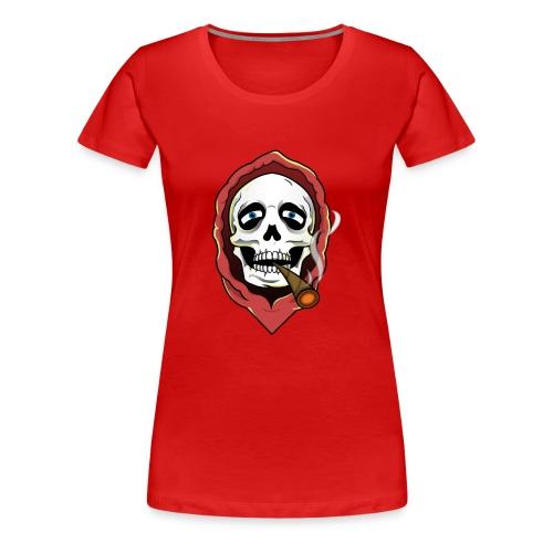 Skull and Stoned (Woman's T-Shirt) - Women's Premium T-Shirt