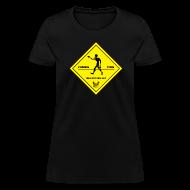 T-Shirts ~ Women's T-Shirt ~ Zombie Crossing (Unlucky Girl) Women's T-SHirt