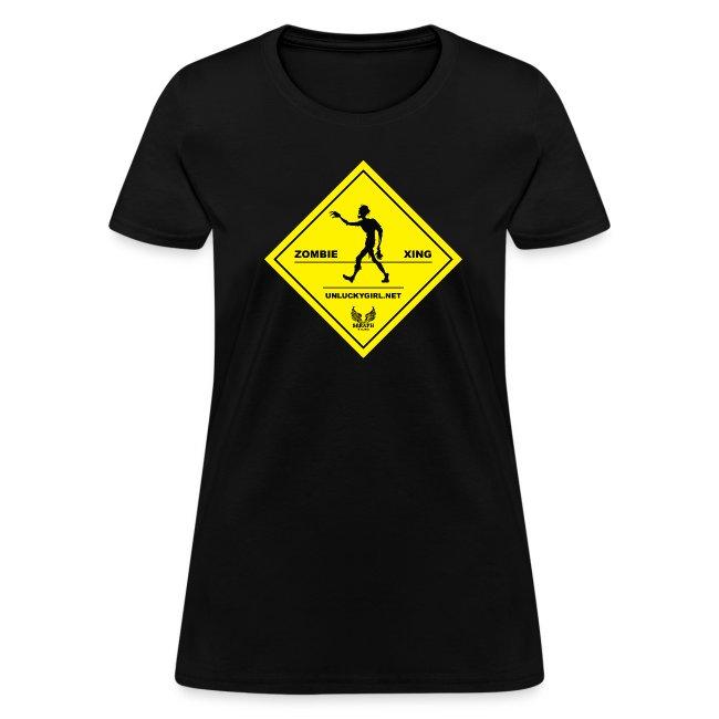 Zombie Crossing (Unlucky Girl) Women's T-SHirt