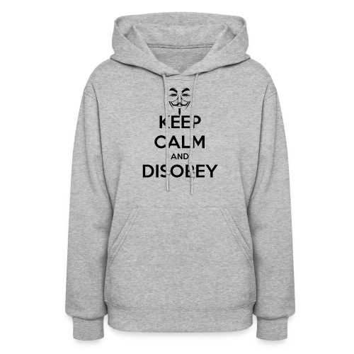 Keep Calm & Disobey Anon Mask - WOMEN - Women's Hoodie