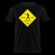 T-Shirts ~ Men's T-Shirt ~ Zombie Crossing (Unlucky Girl) Men's T-SHirt