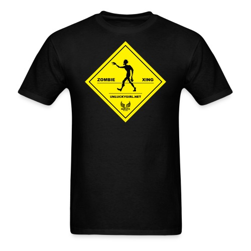 Zombie Crossing (Unlucky Girl) Men's T-SHirt - Men's T-Shirt