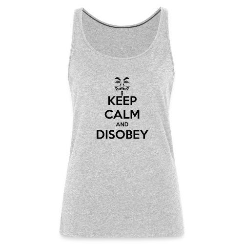 Keep Calm & Disobey Anon Mask - WOMEN - Women's Premium Tank Top