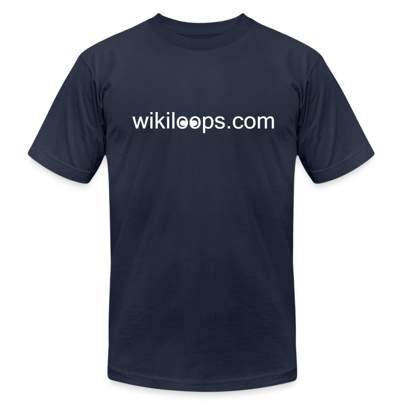 wikiloops classic shirt - Men's T-Shirt by American Apparel
