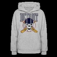 Hoodies ~ Women's Hooded Sweatshirt ~ Baseball Skull