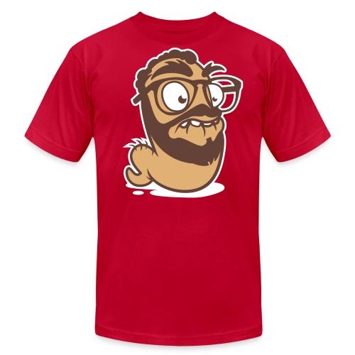 WormJorge_3ColorFinal03 - Men's Fine Jersey T-Shirt