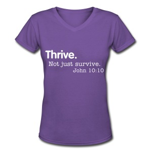 Thrive Women's V Reg - Women's V-Neck T-Shirt