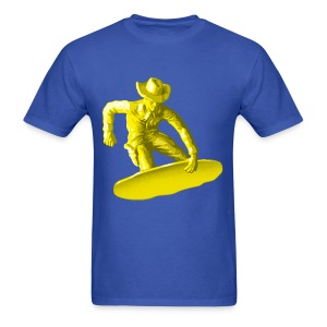 Yellow snowboarding toy - Men's T-Shirt