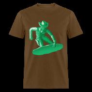 T-Shirts ~ Men's T-Shirt ~ Green snowboarding toy