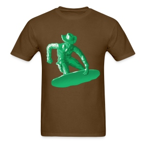 Green snowboarding toy - Men's T-Shirt