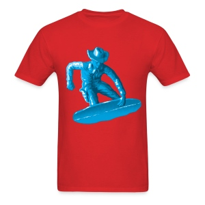 Blue snowboarding toy - Men's T-Shirt