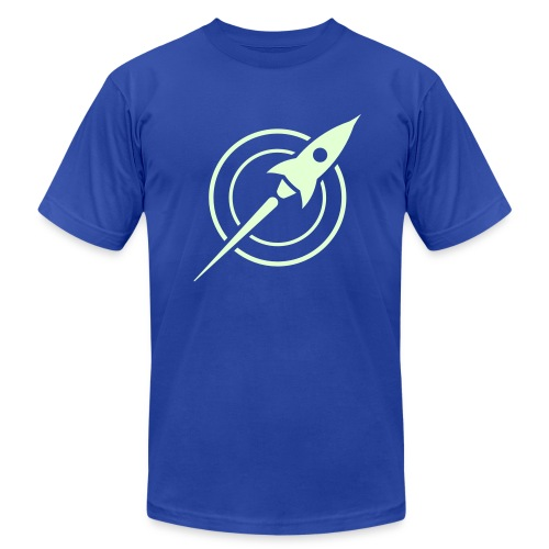 Glow-in-the-dark Rocket on Men's American Apparel - Men's Fine Jersey T-Shirt