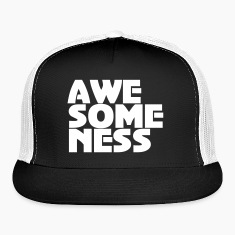 Awesomeness Vector T-shirt design. Caps
