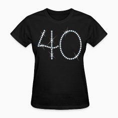 Faux Rhinestone 40th Birthday Women's T-Shirts