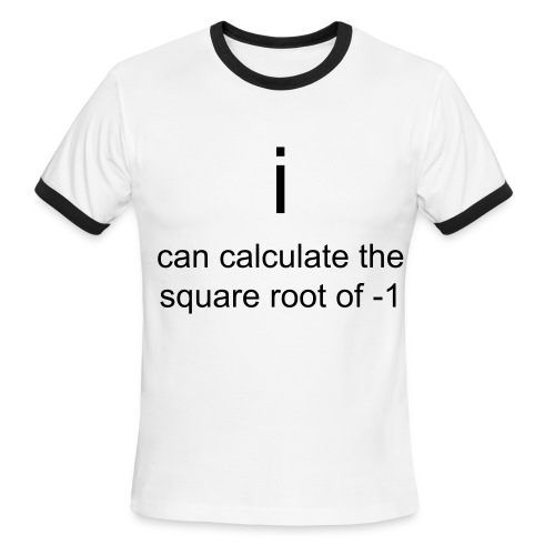i can calculate the square root of -1 mens ring-shirt - Men's Ringer T-Shirt